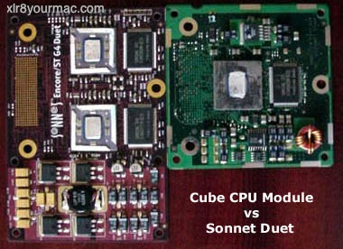 Dual G4 500 Cube Modifications Using Sonnet Duet Card